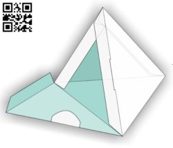 Triangle box E0011437 file cdr and dxf free vector download for Laser cut