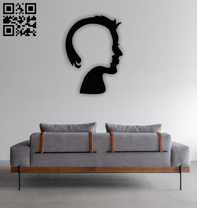 Two faces E0011389 file cdr and dxf free vector download for Laser cut