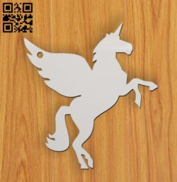 Unicorn key chain E0011357 file cdr and dxf free vector download for laser cut