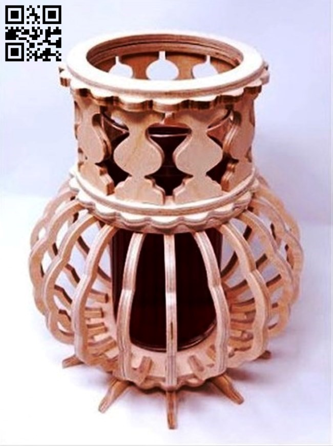 Vase E0011487 file cdr and dxf free vector download for Laser cut