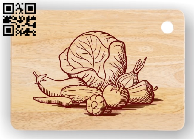 Vegetable E0011450 file cdr and dxf free vector download for laser engraving machines