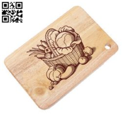 Vegetable basket E0011449 file cdr and dxf free vector download for laser engraving machines
