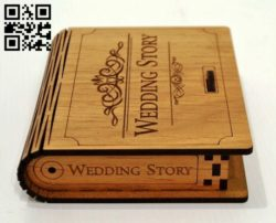 Wedding story box E0011403 file cdr and dxf free vector download for laser cut
