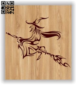 Witch E0011587 file cdr and dxf free vector download for laser engraving machines