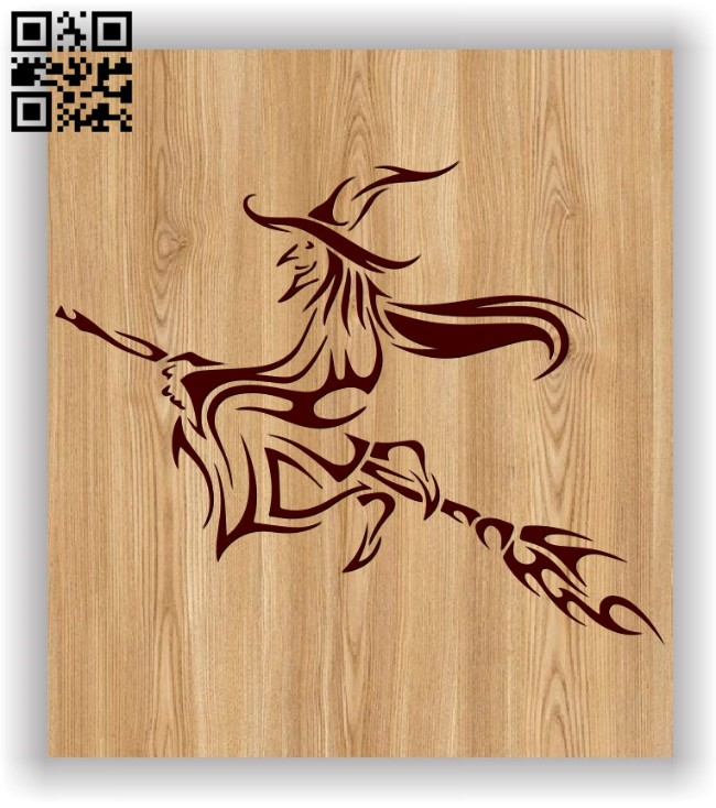 Witch E0011588 file cdr and dxf free vector download for laser engraving machines