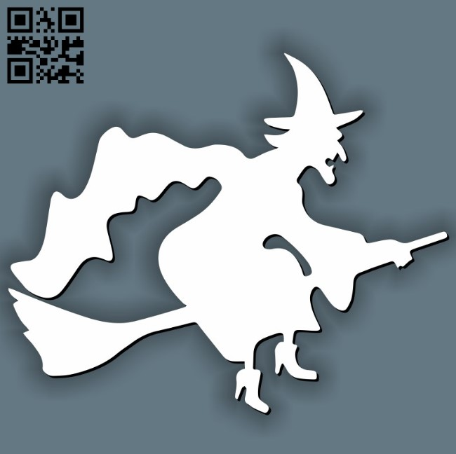 Witche Halloween E0011592 file cdr and dxf free vector download for laser cut
