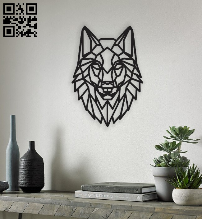 Wolf head E0011534 file cdr and dxf free vector download for Laser cut