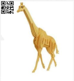 Wooden giraffe E0011572 file cdr and dxf free vector download for Laser cut