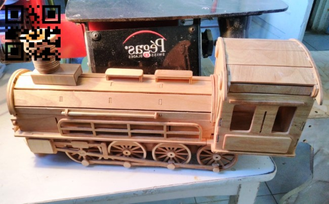 Wooden locomotive E0011443 file cdr and dxf free vector download for laser cut