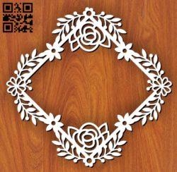 Wreath E0011409 file cdr and dxf free vector download for laser cut