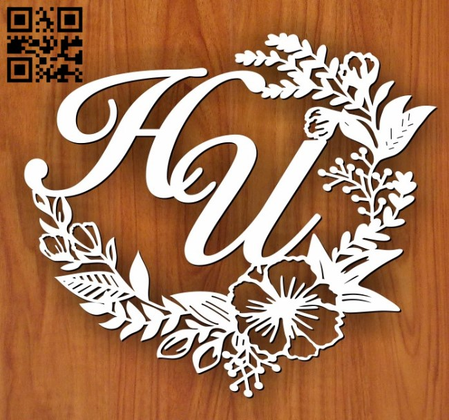 Wreath E0011480 file cdr and dxf free vector download for Laser cut