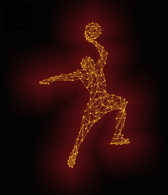 3D illusion led lamp Basketball athlete E0011876 file cdr and dxf free vector download for laser engraving machines