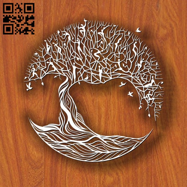 Art tree E0011714 file cdr and dxf free vector download for laser cut
