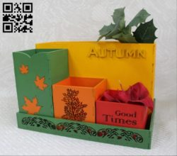 Autumn organizer E0011798 file cdr and dxf free vector download for Laser cut