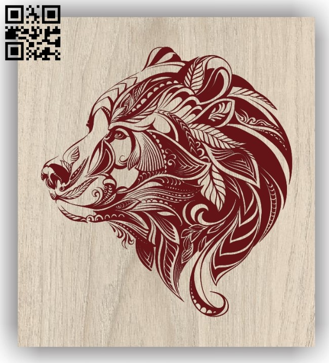 Bear E0011923 file cdr and dxf free vector download for laser engraving machines