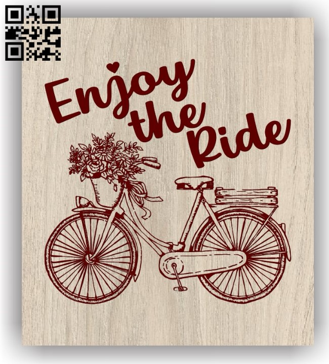 Bike E0011671file cdr and dxf free vector download for laser engraving machines