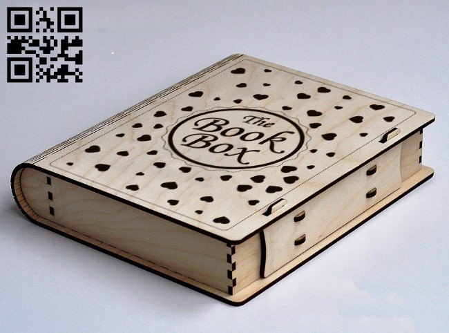 Book box E0011681 file cdr and dxf free vector download for laser cut