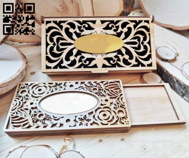 Box E0011692 file cdr and dxf free vector download for Laser cut
