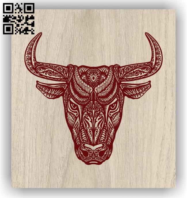 Bull E0011921 file cdr and dxf free vector download for laser engraving machines