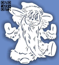 Cat E0011701 file cdr and dxf free vector download for laser cut