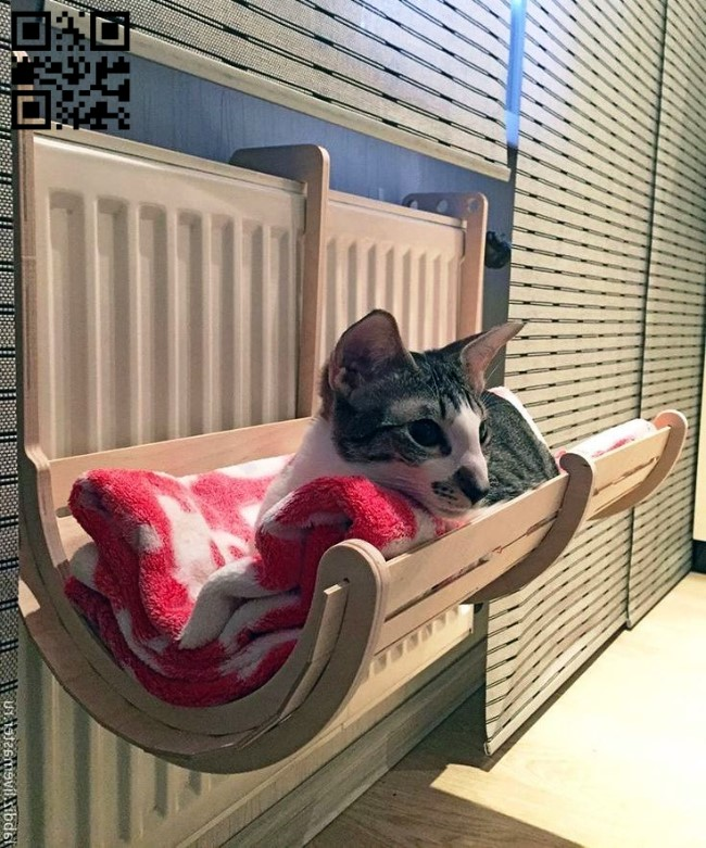 Cat bed E0011917 file cdr and dxf free vector download for laser cut
