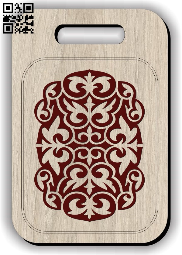 Chopping board E0011866 file cdr and dxf free vector download for CNC cut