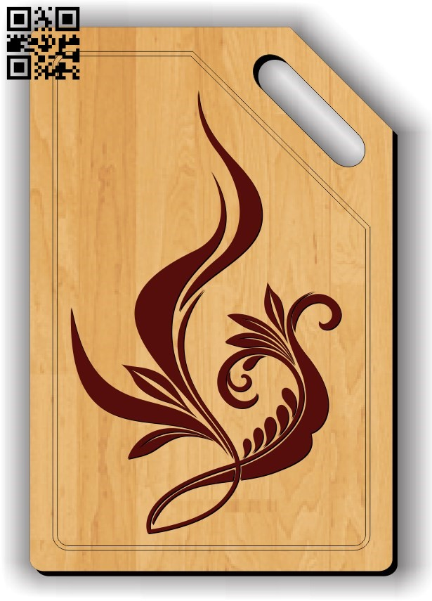 Chopping board E0011869 file cdr and dxf free vector download for cnc cut