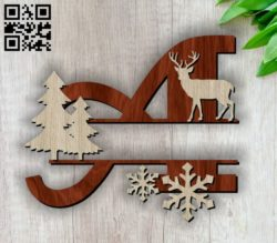 Christmas A E00117330 file cdr and dxf free vector download for laser cut