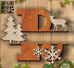 Christmas B E00117331 file cdr and dxf free vector download for laser cut