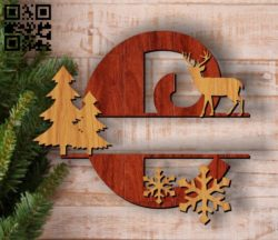 Christmas C E00117332 file cdr and dxf free vector download for laser cut