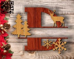Christmas D E0011733 file cdr and dxf free vector download for laser cut