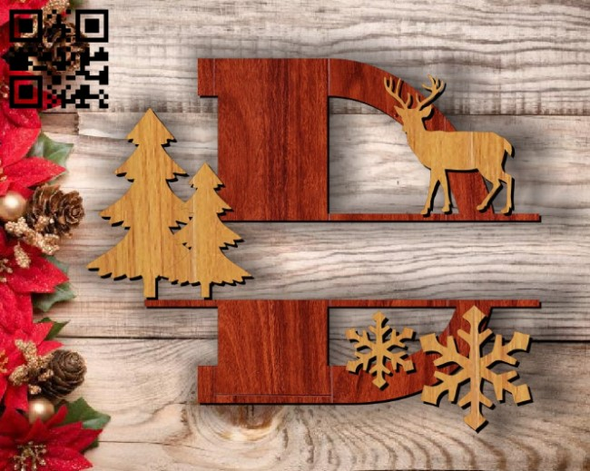 Christmas D E00117333 file cdr and dxf free vector download for laser cut