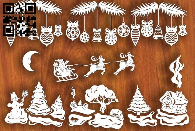 Christmas E0011697 file cdr and dxf free vector download for laser cut2