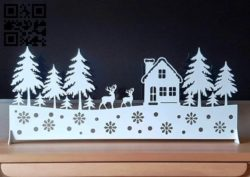Christmas E0011910 file cdr and dxf free vector download for laser cut