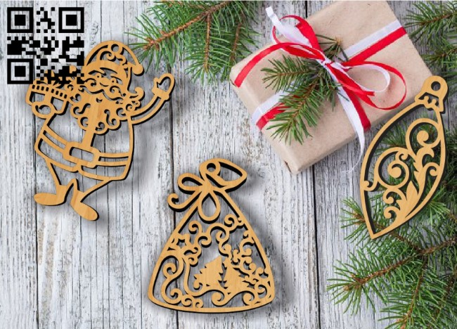 Christmas Toys E0011935 file cdr and dxf free vector download for laser cut