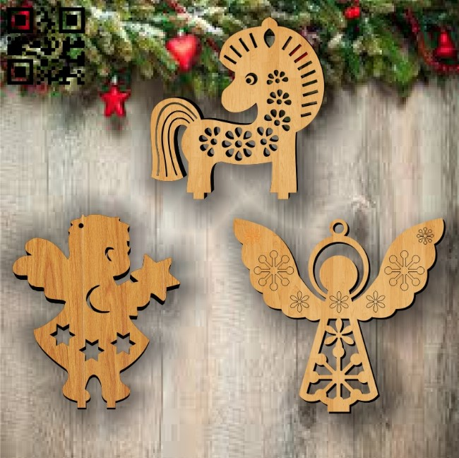 Christmas Toys E0011937 file cdr and dxf free vector download for laser cut