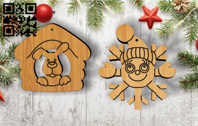Christmas Toys E0011938 file cdr and dxf free vector download for laser cut