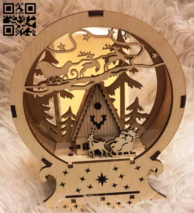 Christmas light E0011712 file cdr and dxf free vector download for laser cut