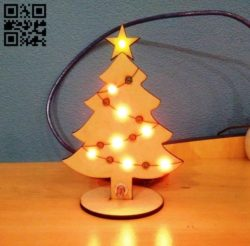 Christmas tree E0011656 file cdr and dxf free vector download for laser cut