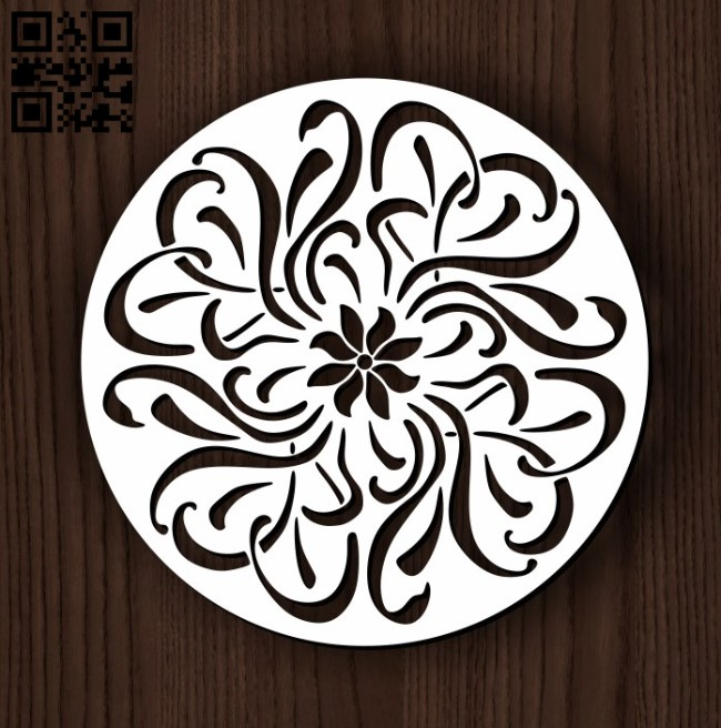 Circular decoration E0011822 file cdr and dxf free vector download for Laser cut