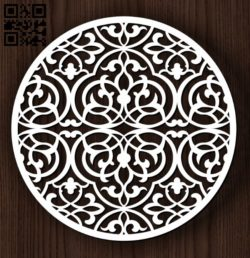 Circular decoration E0011823 file cdr and dxf free vector download for Laser cut