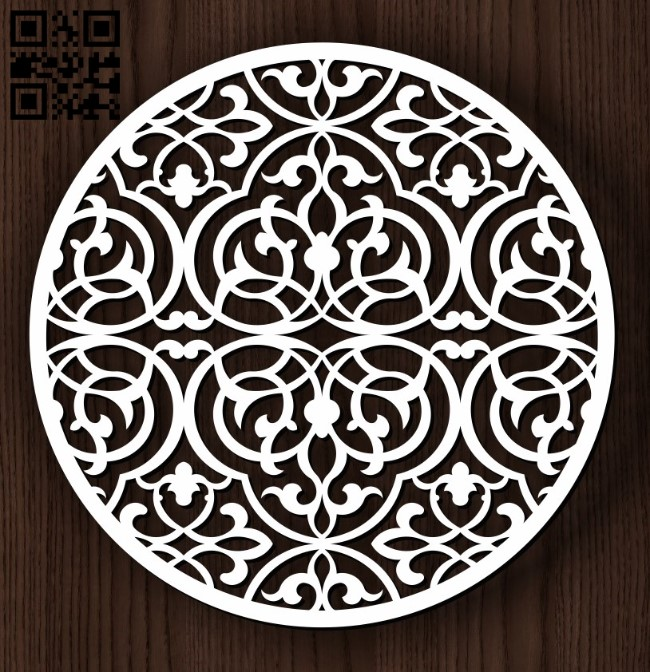 Circular decoration E0011823 file cdr and dxf free vector download for Laser cutCircular decoration E0011823 file cdr and dxf free vector download for Laser cut
