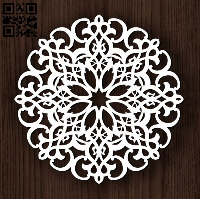 Circular decoration E0011824 file cdr and dxf free vector download for Laser cut