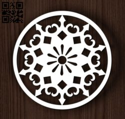 Circular decoration E0011825 file cdr and dxf free vector download for Laser cut