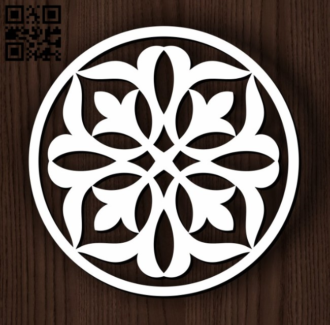 Circular decoration E0011826 file cdr and dxf free vector download for Laser cut