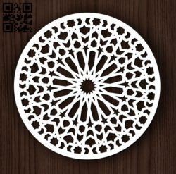 Circular decoration E0011827 file cdr and dxf free vector download for Laser cut