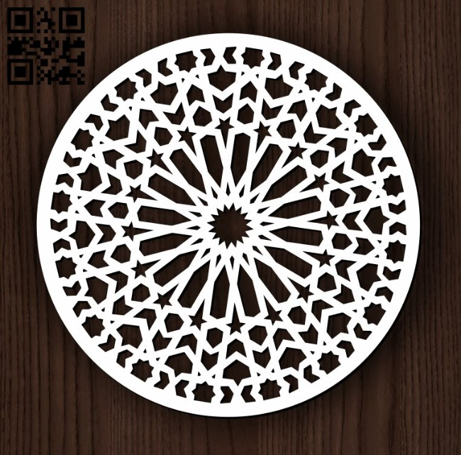 Circular decoration E0011827file cdr and dxf free vector download for Laser cut