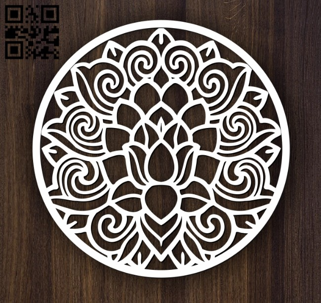 Circular decoration E0011896 file cdr and dxf free vector download for laser cut plasma