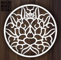 Circular decoration E0011897 file cdr and dxf free vector download for laser cut plasma