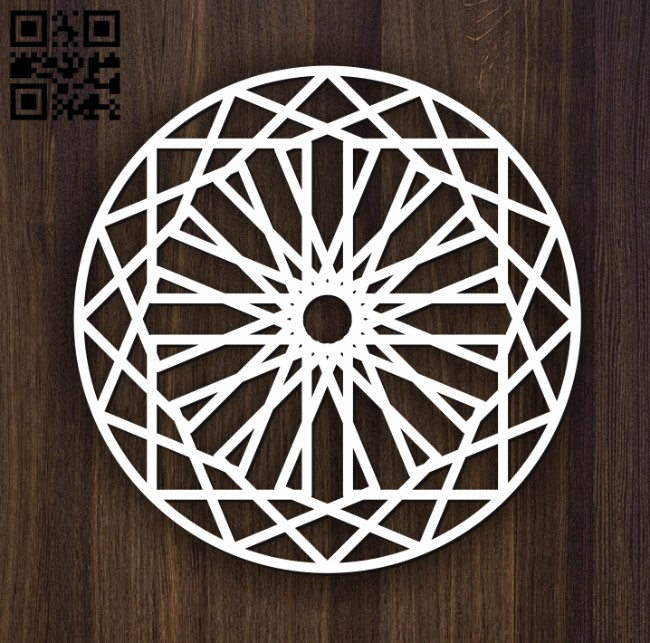 Circular decoration E0011898 file cdr and dxf free vector download for laser cut plasma